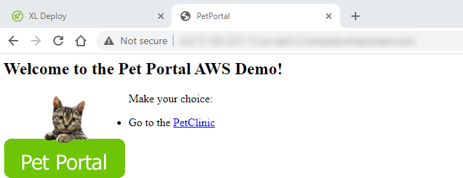 PetPortal application deployed successfully