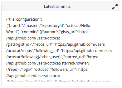 Latest commits tile raw data