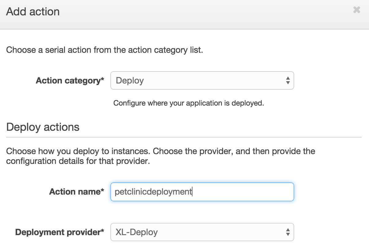 Select XL Deploy deployment provider