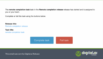 Remote Completion Task Email